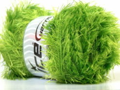 Lot of 4 x 100gr Skeins Ice Yarns EYELASH 100GR Yarn Bright Green