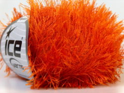 Lot of 8 Skeins Ice Yarns EYELASH Hand Knitting Yarn Orange