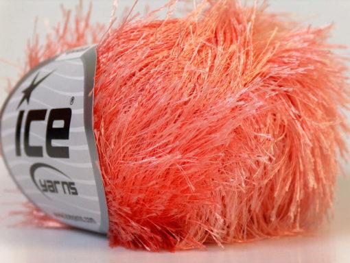 Lot of 8 Skeins Ice Yarns EYELASH Hand Knitting Yarn Light Salmon