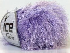 Lot of 8 Skeins Ice Yarns EYELASH Hand Knitting Yarn Light Lilac