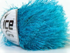 Lot of 8 Skeins Ice Yarns EYELASH Hand Knitting Yarn Turquoise