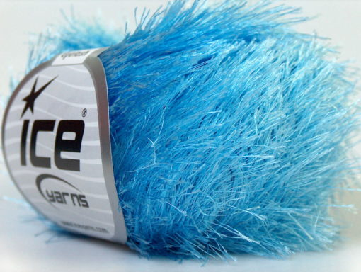 Lot of 8 Skeins Ice Yarns EYELASH Hand Knitting Yarn Light Blue