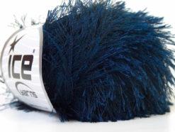 Lot of 8 Skeins Ice Yarns EYELASH Hand Knitting Yarn Navy