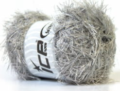 Lot of 4 x 100gr Skeins Ice Yarns EYELASH 100GR Hand Knitting Yarn Grey