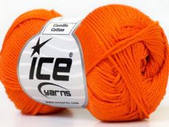 Lot of 6 Skeins Ice Yarns CAMILLA COTTON (100% Mercerized Cotton) Yarn Orange