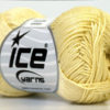 Lot of 6 Skeins Ice Yarns CAMILLA COTTON (100% Mercerized Cotton) Yarn Light Yellow