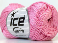 Lot of 6 Skeins Ice Yarns CAMILLA COTTON (100% Mercerized Cotton) Yarn Pink