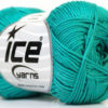 Lot of 6 Skeins Ice Yarns CAMILLA COTTON (100% Mercerized Cotton) Yarn Sea Green