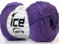 Lot of 6 Skeins Ice Yarns CAMILLA COTTON (100% Mercerized Cotton) Yarn Purple