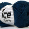 Lot of 6 Skeins Ice Yarns CAMILLA COTTON (100% Mercerized Cotton) Yarn Navy