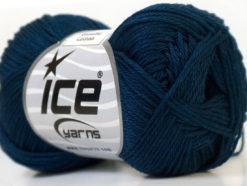Lot of 6 Skeins Ice Yarns CAMILLA COTTON (100% Mercerized Cotton) Yarn Navy