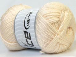 Lot of 4 x 100gr Skeins Ice Yarns DORA Hand Knitting Yarn Cream