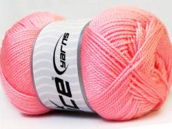 Lot of 4 x 100gr Skeins Ice Yarns DORA Hand Knitting Yarn Light Pink