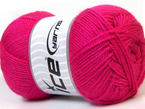 Lot of 4 x 100gr Skeins Ice Yarns DORA Hand Knitting Yarn Fuchsia