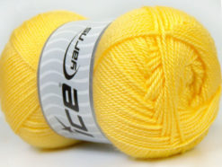 Lot of 4 x 100gr Skeins Ice Yarns DORA Hand Knitting Yarn Light Yellow