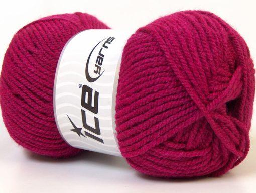 Lot of 4 x 100gr Skeins Ice Yarns Worsted FAVORITE Hand Knitting Yarn Dark Pink