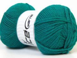 Lot of 4 x 100gr Skeins Ice Yarns Worsted FAVORITE Hand Knitting Yarn Sea Green