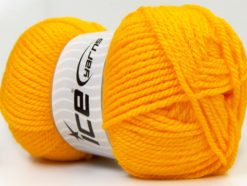 Lot of 4 x 100gr Skeins Ice Yarns Bulky ATLAS Hand Knitting Yarn Yellow