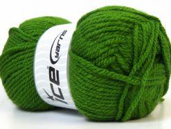 Lot of 4 x 100gr Skeins Ice Yarns Bulky ATLAS Hand Knitting Yarn Green