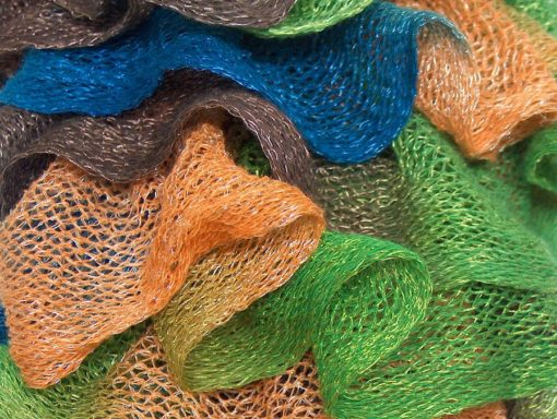 Lot of 4 x 100gr Skeins Ice Yarns MAMBO Scarf Yarn Brown Blue Green Gold