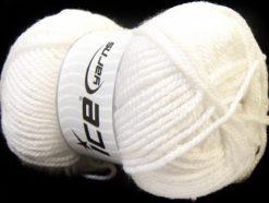 Lot of 4 x 100gr Skeins Ice Yarns Bulky ATLAS Hand Knitting Yarn White