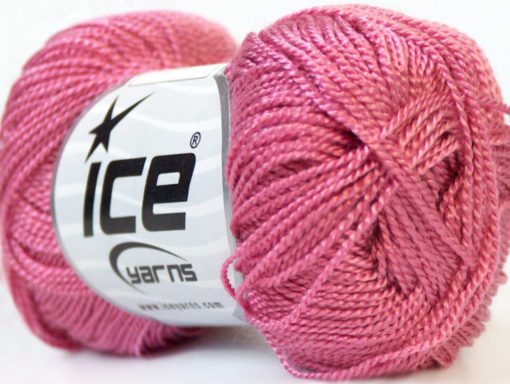Lot of 10 Skeins Ice Yarns ETAMIN Hand Knitting Yarn Rose Pink