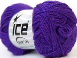 Lot of 10 Skeins Ice Yarns ETAMIN Hand Knitting Yarn Purple