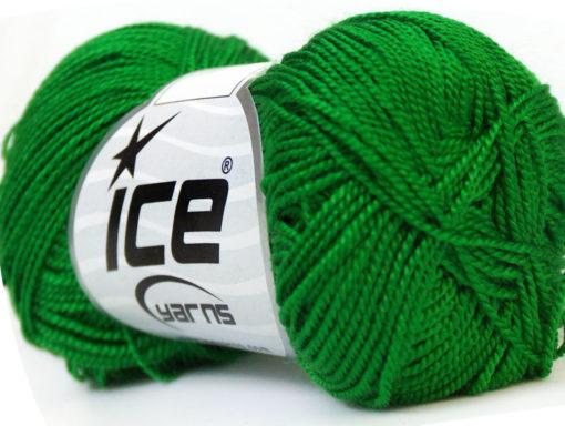 Lot of 10 Skeins Ice Yarns ETAMIN Hand Knitting Yarn Bright Green