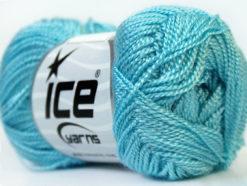 Lot of 10 Skeins Ice Yarns ETAMIN Hand Knitting Yarn Light Blue