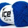 Lot of 10 Skeins Ice Yarns ETAMIN Hand Knitting Yarn Blue