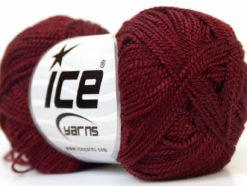 Lot of 10 Skeins Ice Yarns ETAMIN Hand Knitting Yarn Burgundy