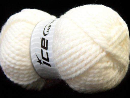 Lot of 2 x 150gr Skeins Ice Yarns SuperBulky ALPINE (45% Wool) Yarn White