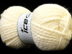 Lot of 2 x 150gr Skeins Ice Yarns SuperBulky ALPINE (45% Wool) Yarn Cream