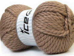 Lot of 2 x 150gr Skeins Ice Yarns SuperBulky ALPINE (45% Wool) Yarn Camel Brown