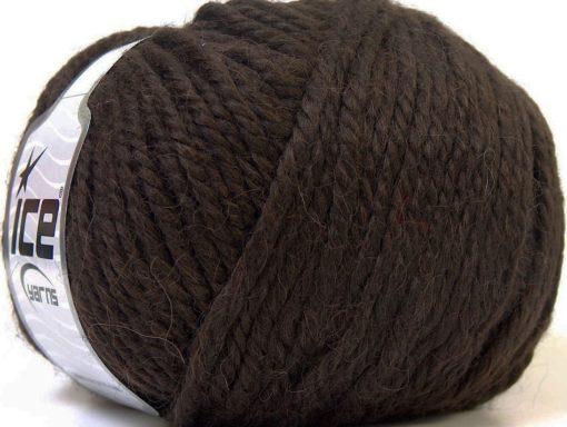 Lot of 4 x 100gr Skeins Ice Yarns ALPACA BULKY (25% Alpaca 35% Wool) Yarn Dark Brown