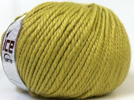 Lot of 4 x 100gr Skeins Ice Yarns ALPACA BULKY (25% Alpaca 35% Wool) Yarn Green