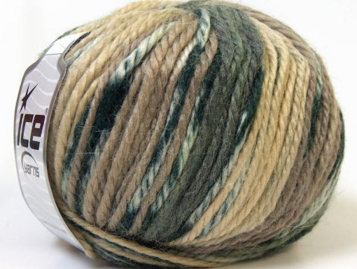 Lot of 4 x 100gr Skeins Ice Yarns ALPACA BULKY MAGIC (25% Alpaca 35% Wool) Yarn Camel Cream Grey