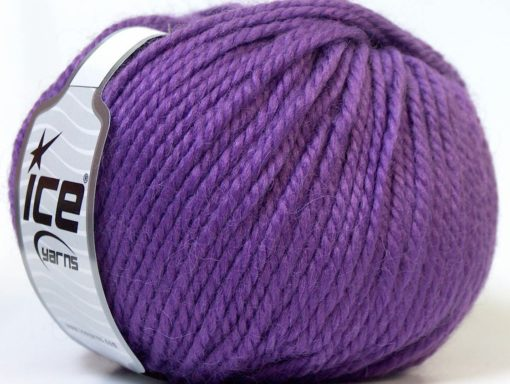 Lot of 4 x 100gr Skeins Ice Yarns ALPACA BULKY (25% Alpaca 35% Wool) Yarn Purple