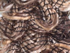 Lot of 4 x 75gr Skeins Ice Yarns CHA CHA CHA Ruffle Scarf Yarn Brown Shades