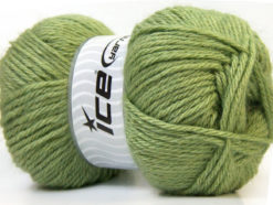 Lot of 4 x 100gr Skeins Ice Yarns ZERDA ALPACA (30% Alpaca 70% Dralon) Yarn Green