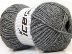 Lot of 4 x 100gr Skeins Ice Yarns ZERDA ALPACA (30% Alpaca 70% Dralon) Yarn Grey