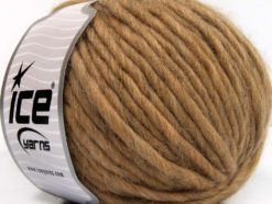 Lot of 4 x 100gr Skeins Ice Yarns PURE WOOL SUPERBULKY (100% Australian Wool) Yarn Light Camel