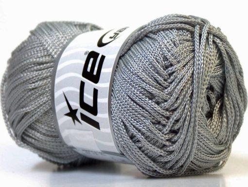 Lot of 4 x 100gr Skeins Ice Yarns MACRAME CORD Hand Knitting Yarn Grey