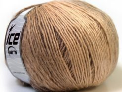 Lot of 4 x 100gr Skeins Ice Yarns MIRAGE COLOR (50% Wool) Yarn Cream Camel