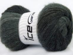 Lot of 4 x 100gr Skeins Ice Yarns MADONNA (40% Wool 30% Mohair) Yarn Grey Shades