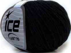 Lot of 8 Skeins Ice Yarns ALARA (50% Cotton) Hand Knitting Yarn Black