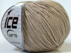 Lot of 8 Skeins Ice Yarns ALARA (50% Cotton) Hand Knitting Yarn Beige