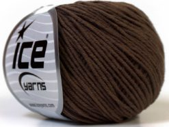 Lot of 8 Skeins Ice Yarns ALARA (50% Cotton) Hand Knitting Yarn Brown