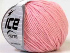 Lot of 8 Skeins Ice Yarns ALARA (50% Cotton) Hand Knitting Yarn Light Pink