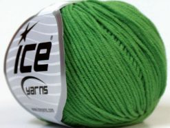 Lot of 8 Skeins Ice Yarns ALARA (50% Cotton) Hand Knitting Yarn Green